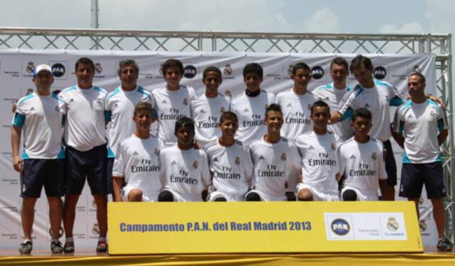 pruebas del campamento P.A.N del Real Madrid 2015