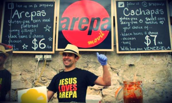 Arepa WA, un negocio que inicio Figueroa con un capital de 500 dólares hace dos años junto con unas inmensas ganas de progresar.