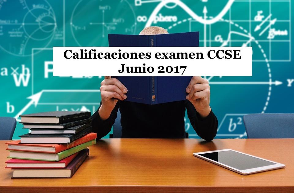 Calificaciones examen CCSE